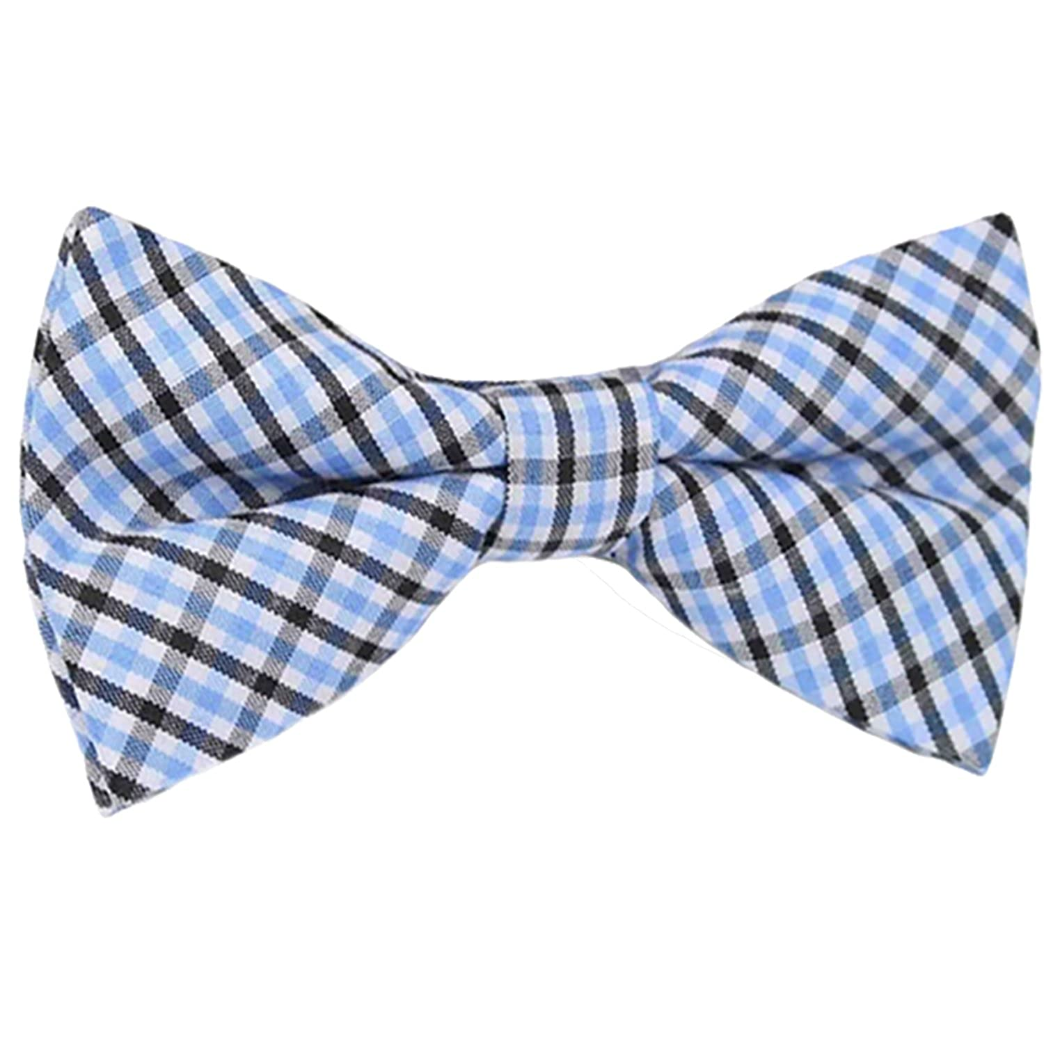 Boys Blue Pre-Tied Bowtie, Stripes, 1 to 10 years Multi Blue Gifts Are Blue