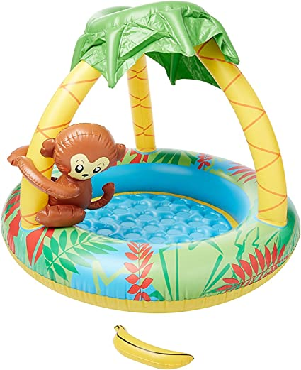 Jilong Monkey Baby Pool - Piscina Infantil con Suelo Hinchable y ...