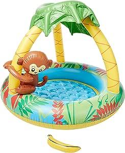 Jilong Monkey Baby Pool - Piscina Infantil con Suelo Hinchable y Parasol, para niños de Entre 1 y 3 años, Ø 102 x 80 cm: Amazon.es: Juguetes y juegos