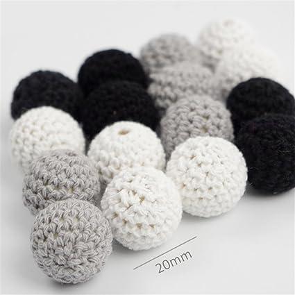 Amazon.com: Baby Love Home Crochet abalorio de madera ...