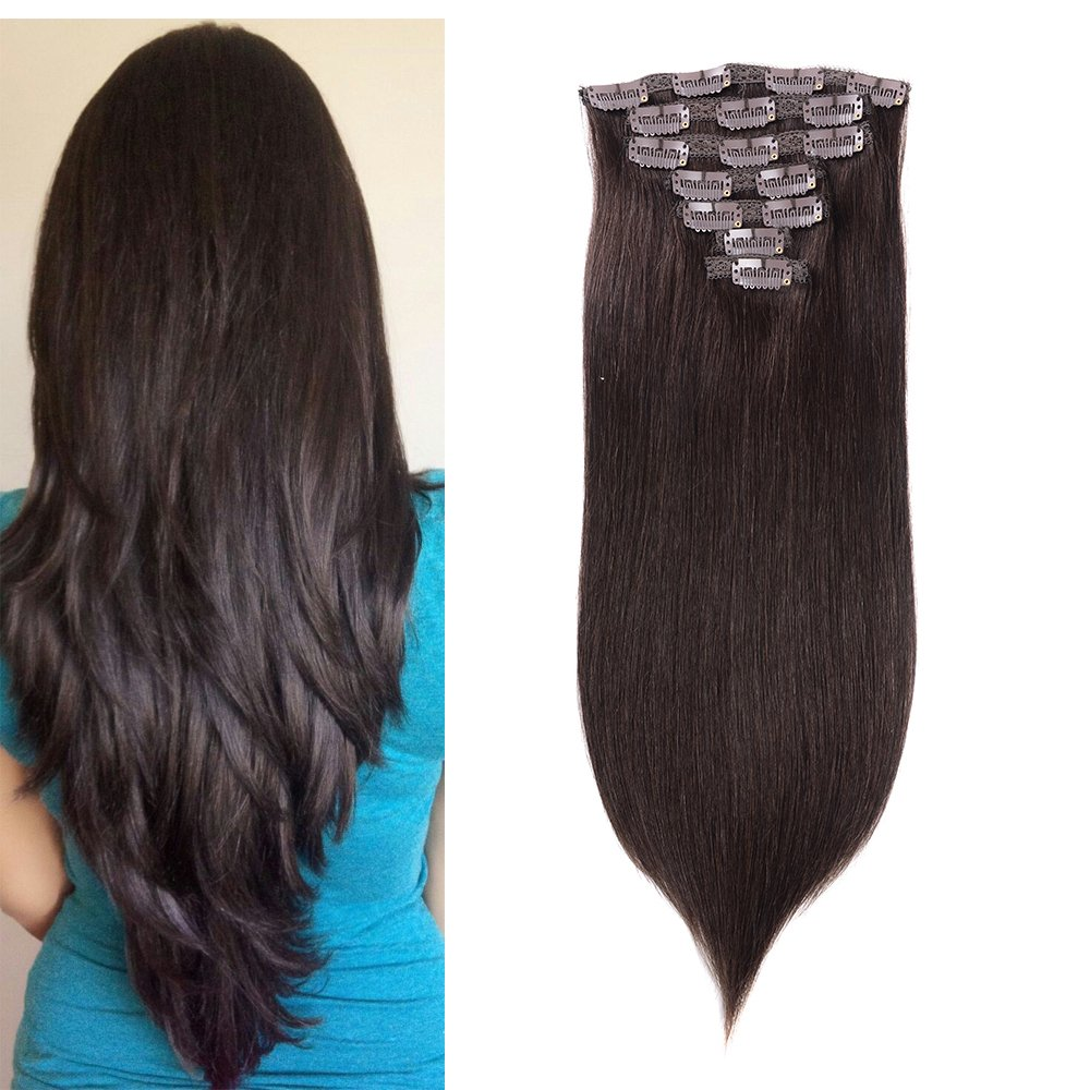 Amazon 18 100 Real Human Hair Remy Hair Extensions Clip In