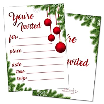 amazon com christmas party invitations with envelopes holiday