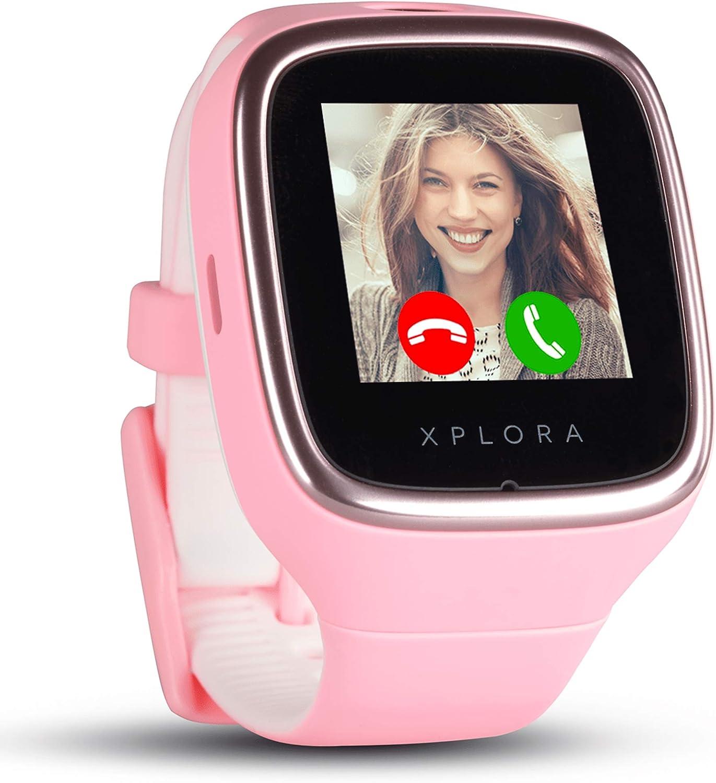 XPLORA 3S - Teléfono Reloj Resistente al Agua para tu Hijo (SIM no incluida) - Llamadas, Mensajes, Modo Colegio, función SOS, Localización GPS y Cámara (Rosa)