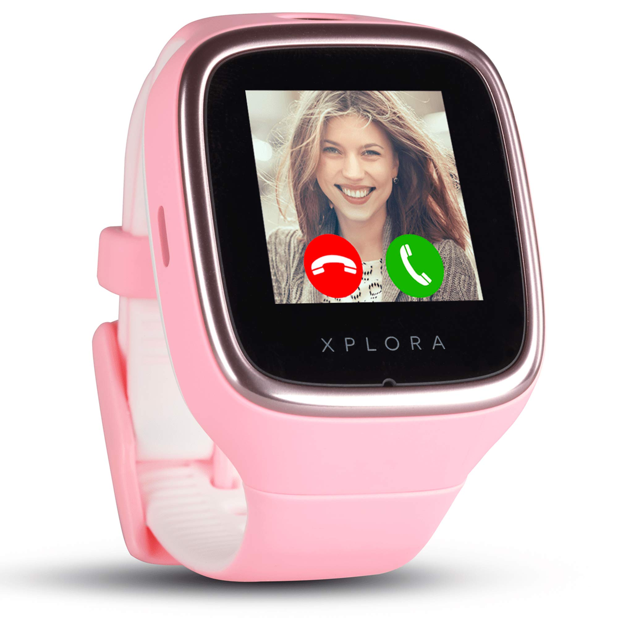 XPLORA 3S - Waterproof Watch Phone for children (SIM Free) - Calls, Messages, Kids School Mode, SOS function, GPS Location and Camera - Includes 2 Year Warranty (PINK)