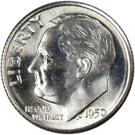 1983 P Roosevelt Uncirculated Dime ~ From Souvenir Mint Set in Mint Cellophane