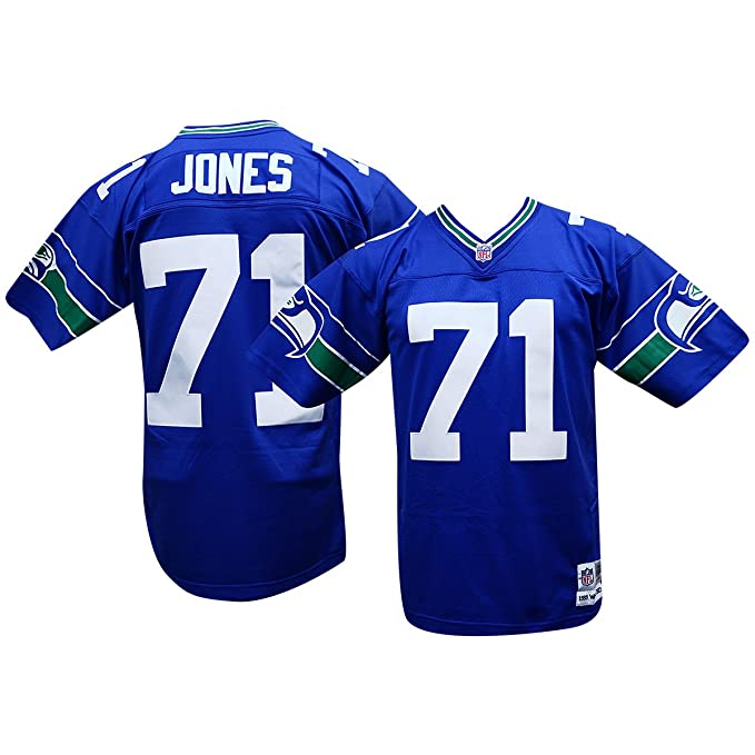 timeless design 53243 d7db7 Walter Jones Seattle Seahawks Royal Mitchell and Ness Throwback Jersey
