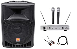 "Rockville Powered 8"" Pro Karaoke Machine/System 4 ipad/iphone/Android/Laptop/TV"