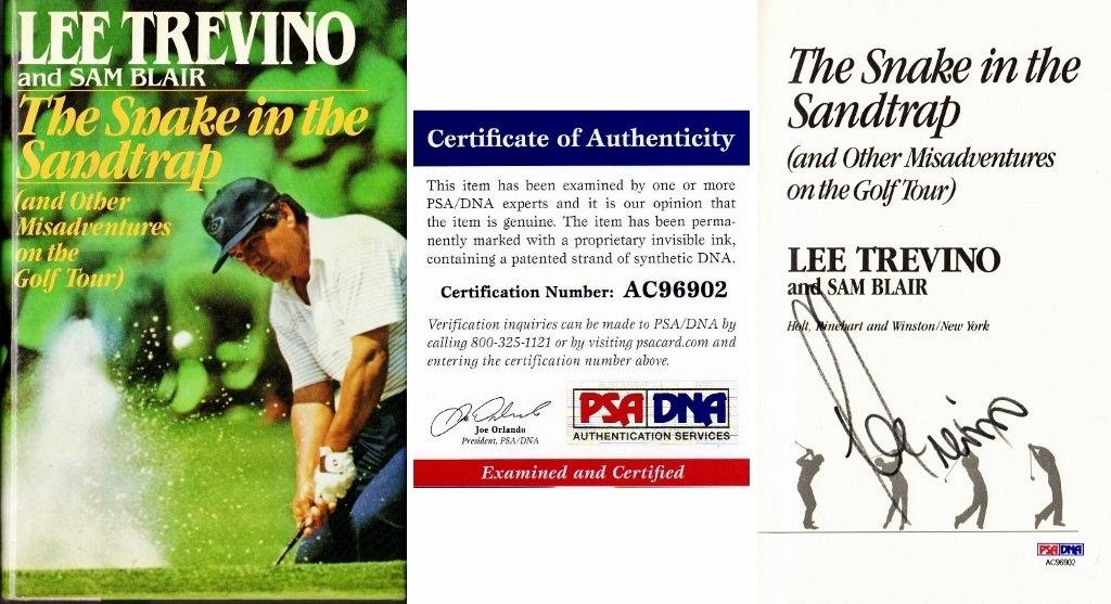 Lee Trevino Signed - Autographed The Snake in the Sandtrap Hardcover Book with Certificate of Authenticity (COA) - PSA/DNA Certified at Amazons Sports ...