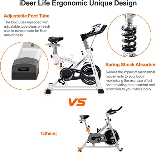 IDEER LIFE Exercise Bike Stationary Indoor Cycling Bike