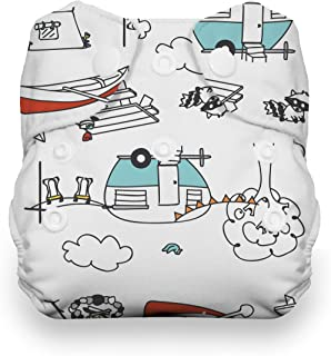 product image for Thirsties Natural Newborn All in One Cloth Diaper, Snap Closure, Happy Camper (5-14 lbs)