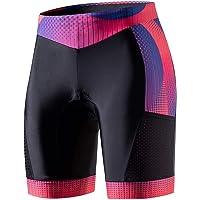 "MY KILOMETRE Triathlon Shorts Womens 8"" Tri Shorts with Side Pockets Adjustable Drawstring"