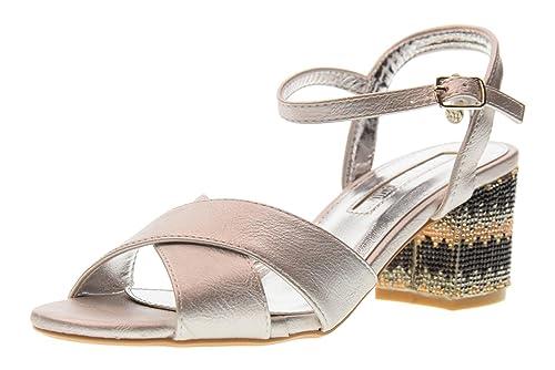 Mujer Sandalias 30704 Plata Tacón Xti Tentaciones Zapatos Bajo De HD29IWbeEY