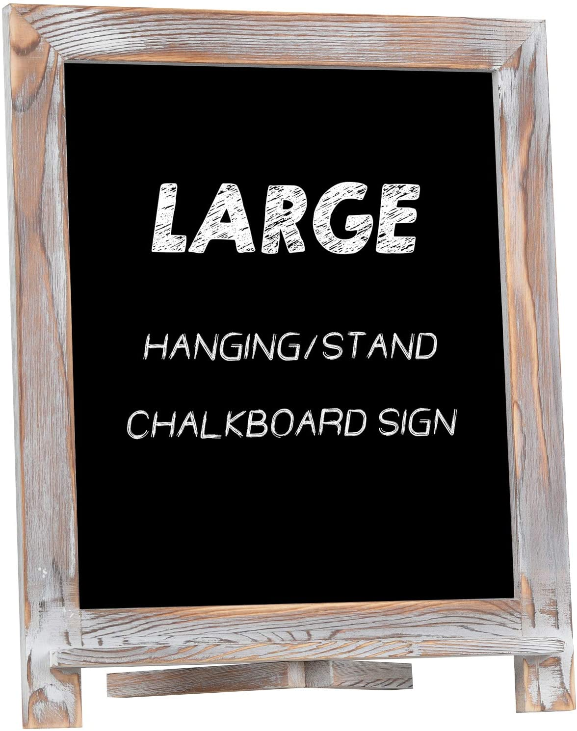 """Rustic Chalkboard Sign, NEARPOW 15""""x12"""" Tabletop Stand and Wall Hanging Display, Pine Wood Frame with Smooth Magnetic Surface Chalk Board Easel for ..."""
