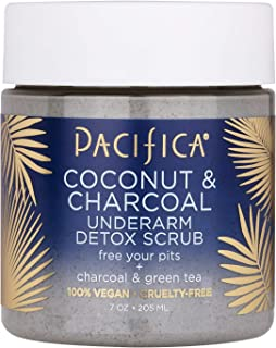 product image for Pacifica Beauty Coconut and Charcoal Underarm Detox Scrub, Vegan & Cruelty Free, 7 Ounce, 2-Pack