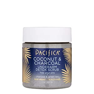 Pacifica Coconut and Charcoal Underarm Detox Scrub, 7 Ounce