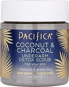 Pacifica Coconut & charcoal underarm detox scrub bundle 2 pack, 2 Count