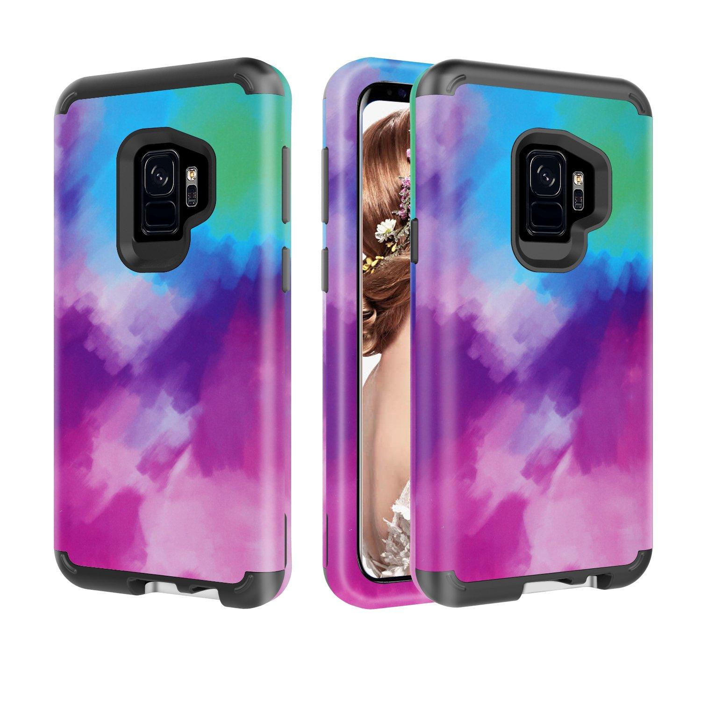 Artfeel Galaxy S9 Custodia Fenicotteri Rosa Design Samsung Galaxy S9 Cover 3 Strato Ibrido Protezione Robusto PC Morbido Silicone Gomma Resistente Cellulare Cover