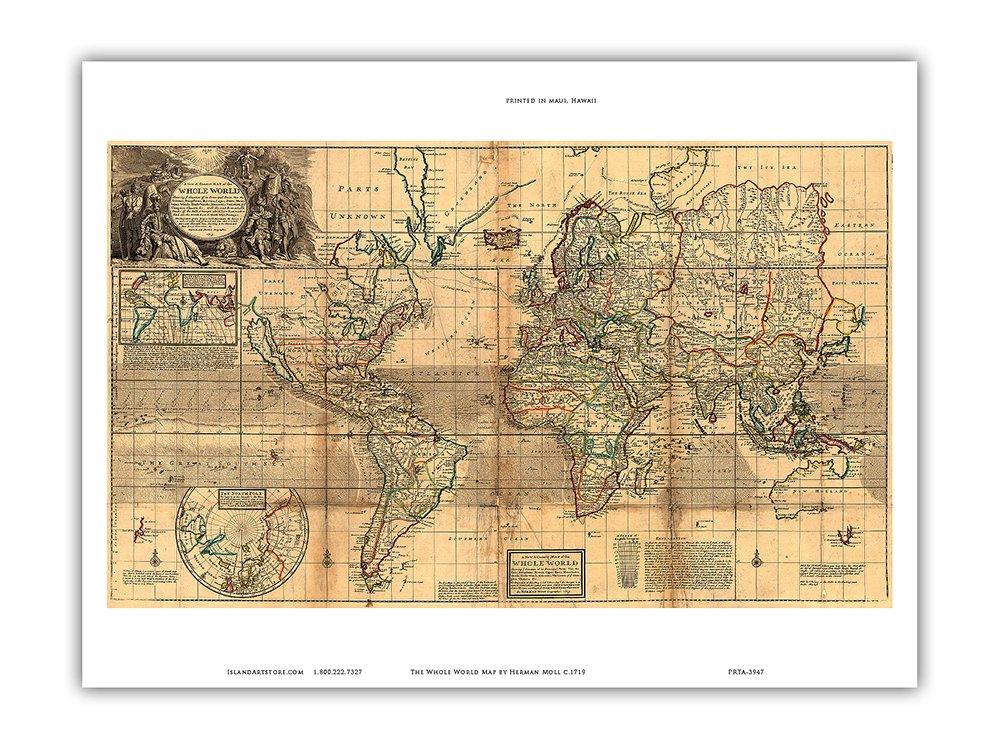 Amazon.com: The Whole World Map - Britain\'s Possessions in ...