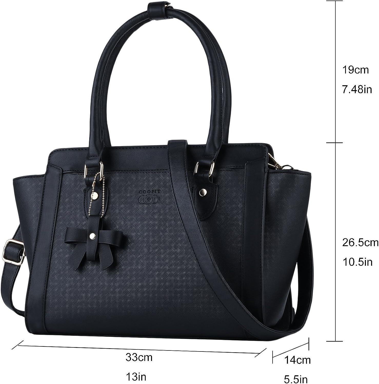 COOFIT Black Purse and Handbag Top Handle Bag Shoulder Bag Black Handbag Original Design Purse for Women