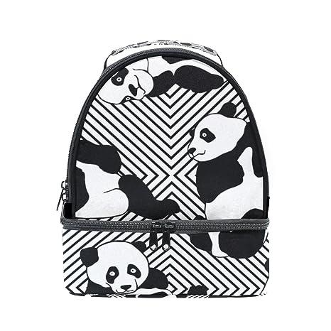 e8b7ef191 Amazon.com: U LIFE Vintage Black White Pandas Striped Insulated Kids ...