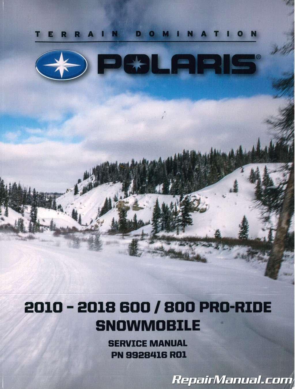 9925071 2010-2015 Polaris Pro-Ride 600 800 Snowmobile Service Manual:  Manufacturer: Amazon.com: Books