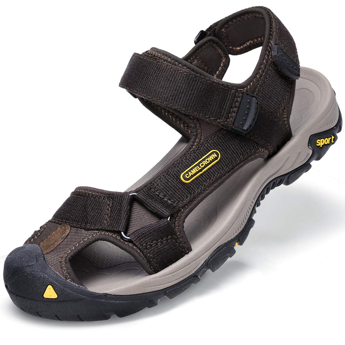 4f65e05abc9 Amazon.com  CAMEL CROWN Mens Waterproof Hiking Sandals Closed Toe Water  Shoes Adjustable Athletic Sandals for Men Outdoor Sport Beach  Clothing
