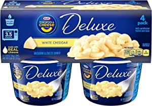 Kraft Deluxe Macaroni & Cheese Cups White Cheddar, 32 Cups (32 Count Total)