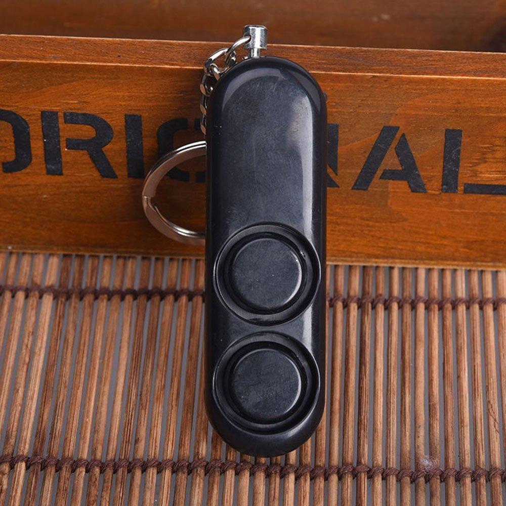 Personal Self Defense Security Alarm Keychain Security Self Defense Panic Vergewaltigung Alarm with LED Flashlight Black