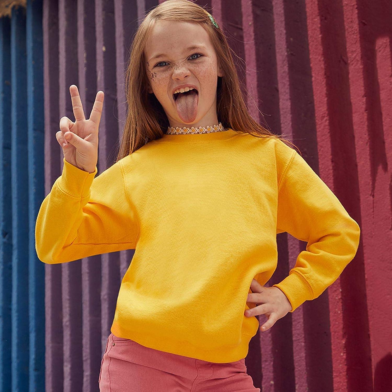 Fruit of The Loom Classic 80//20 Kids Set-in Sweatshirt Blank Plain SS201