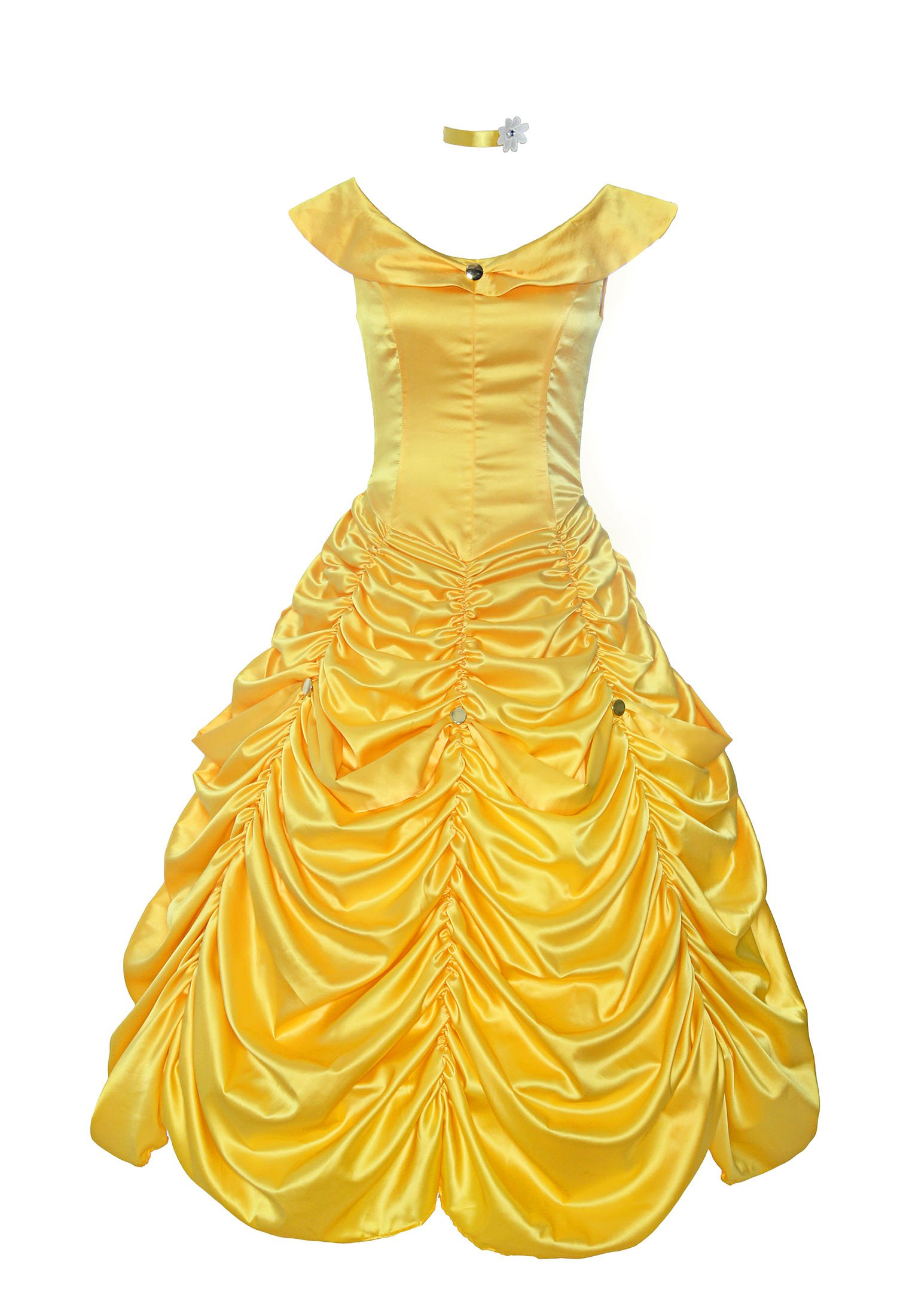 ReliBeauty Womens Princess Belle Costume Layered Dress up, Yellow, 4-6 by ReliBeauty