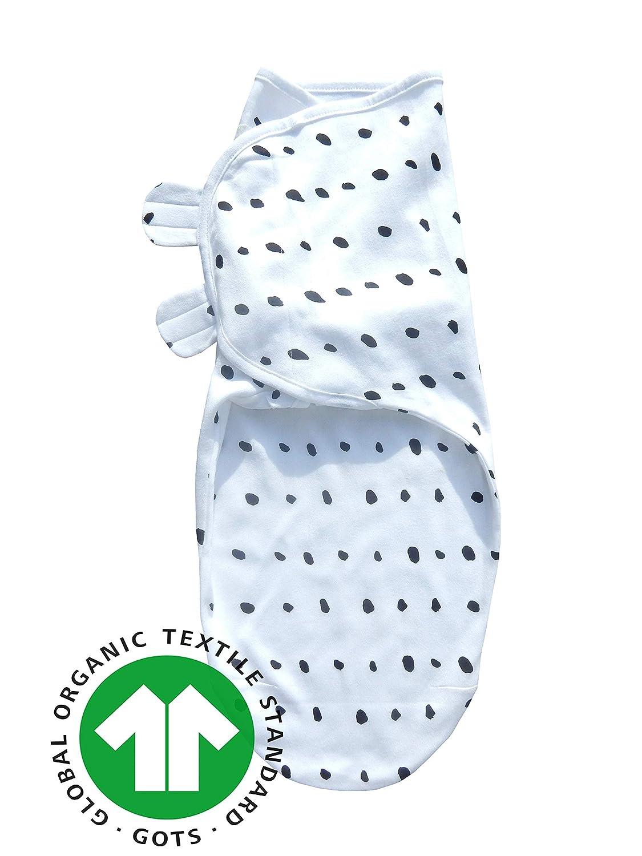 Sleeping Rebels/® Pucksack Baby Premium Bio-Baumwolle GOTS-Zertifiziert Pucktuch Swaddle Sommer-Schlafsack Wickel-Decke zum Pucken und Wickeln von Babys f/ür M/ädchen und Junge-n Schwarz-Wei/ß 0-3 Monate