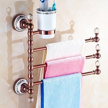 HCP Europea toalla de todo el cobre/toallero/Antigüedades de oro rosa de rotación de la mariposa de jabón/Cepillo de dientes titular/-M: Amazon.es: ...