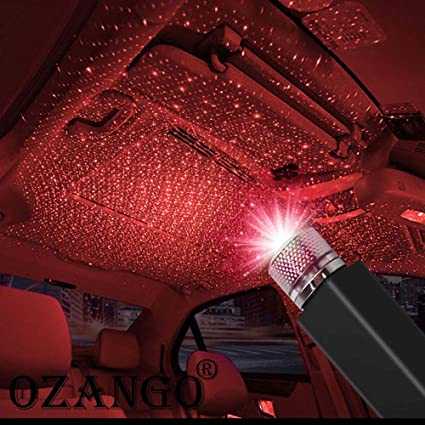 BIMEE car Interior Lights LED Decorative armrest Box car roof Full Star Projection car Interior Atmosphere Lights Car USB Atmosphere Ambient Star Light
