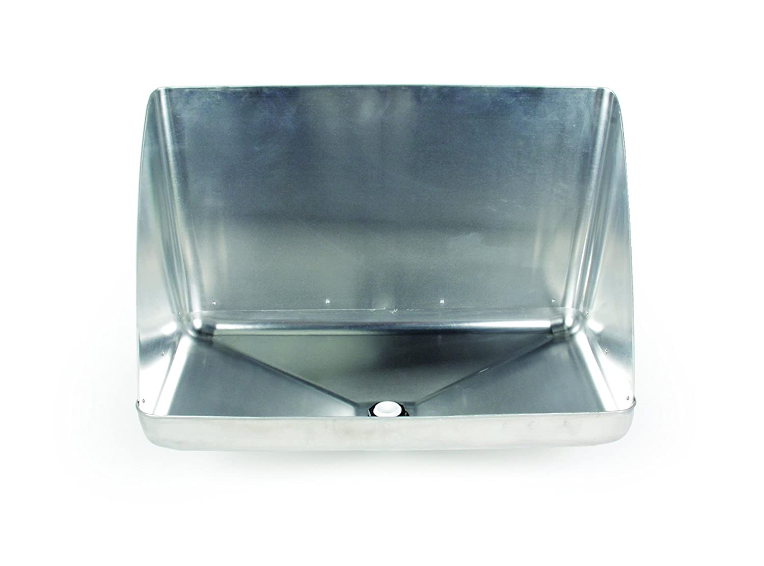 Camco 11430 Aluminum Tankless Water Heater Drain Pan with PVC Fitting