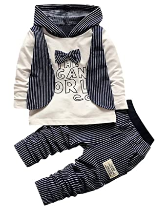7bdec1518 Amazon.com  BINPAW Gentlemen Outfit for Little Boys