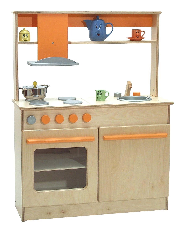 Raffetto 340N - Juego de Cocina (80 x 31 x 60/106 cm, con Puertas Naturales)