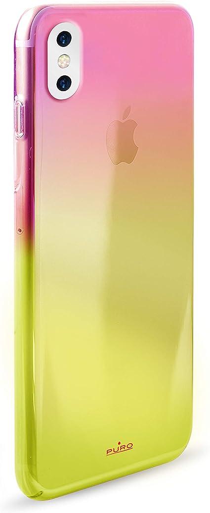 Puro Coque de Protection en silicone pour Apple iPhone X Orange