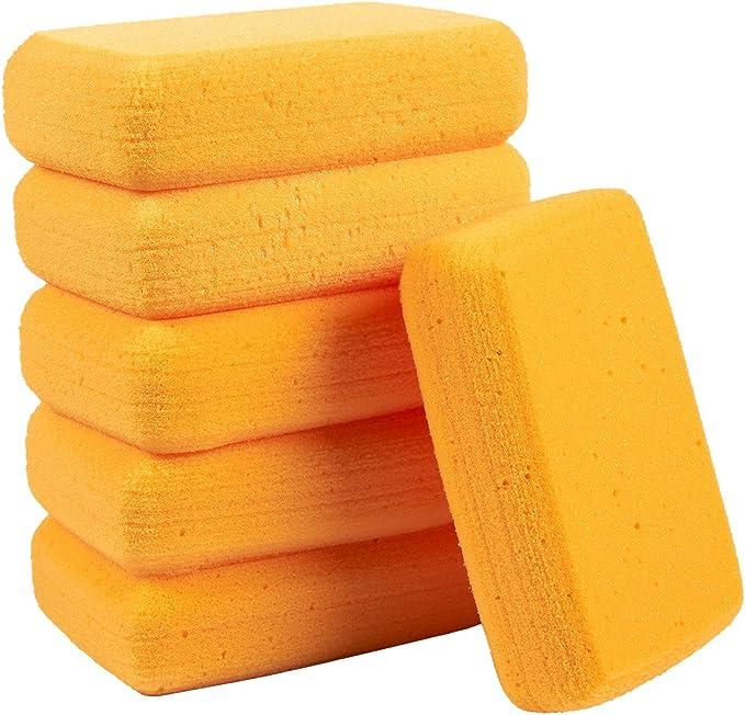 Pack de 6 esponjas sintéticas – Tamaño grande Craft esponjas – ideal para pintura, manualidades, cerámica, arcilla, uso doméstico, 7,5 x 2 x 5 cm, color naranja: Amazon.es: Juguetes y juegos