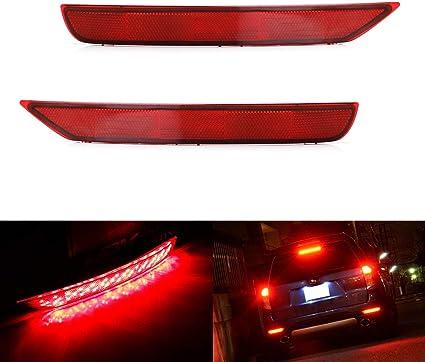 iJDMTOY - Kit completo de luces de freno y traseras de faro antiniebla para Subaru Forester 2009-2018, lentes rojas 72-SMD: Amazon.es: Coche y moto