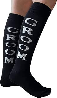 product image for Chrissy's Socks Women's Groom Knee High Socks Black/Gray