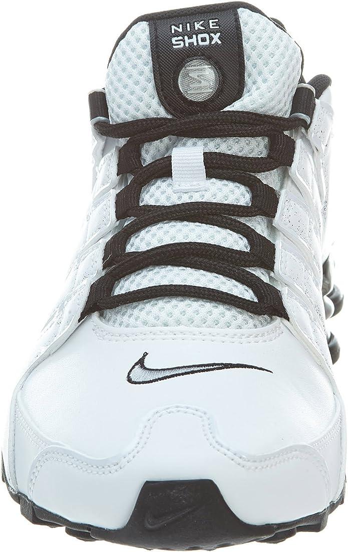 Nike Shox NZ EU, Chaussures de Course pour Homme Bleu Rouge Multicolore WhiteMetallic Silver Black