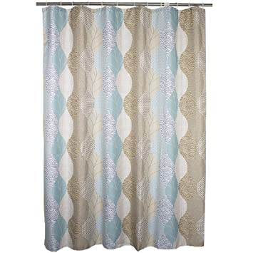 Ufaitheart Fabric Extra Wide Shower Curtain 96 X 72 Inches, Abstract Leaves  Pattern Bathroom Decorative