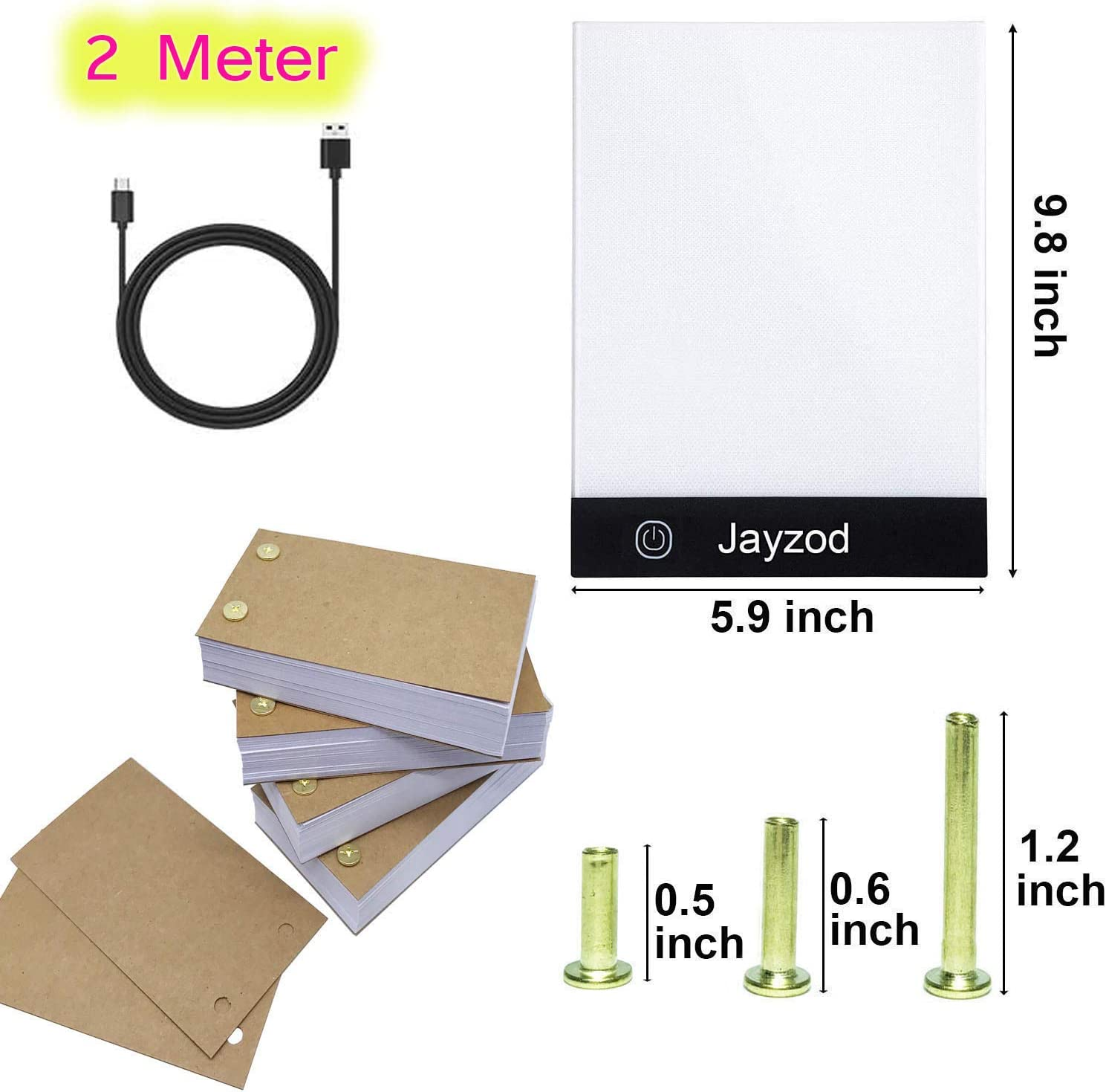 Animation Paper with Binding Screws for tracing and Drawing with Adjustable Light Board for flipbook Creation Flip Book Kit,Flip Book Paper with Holes /& A5 Light Box,300 Sheets 600 Pages