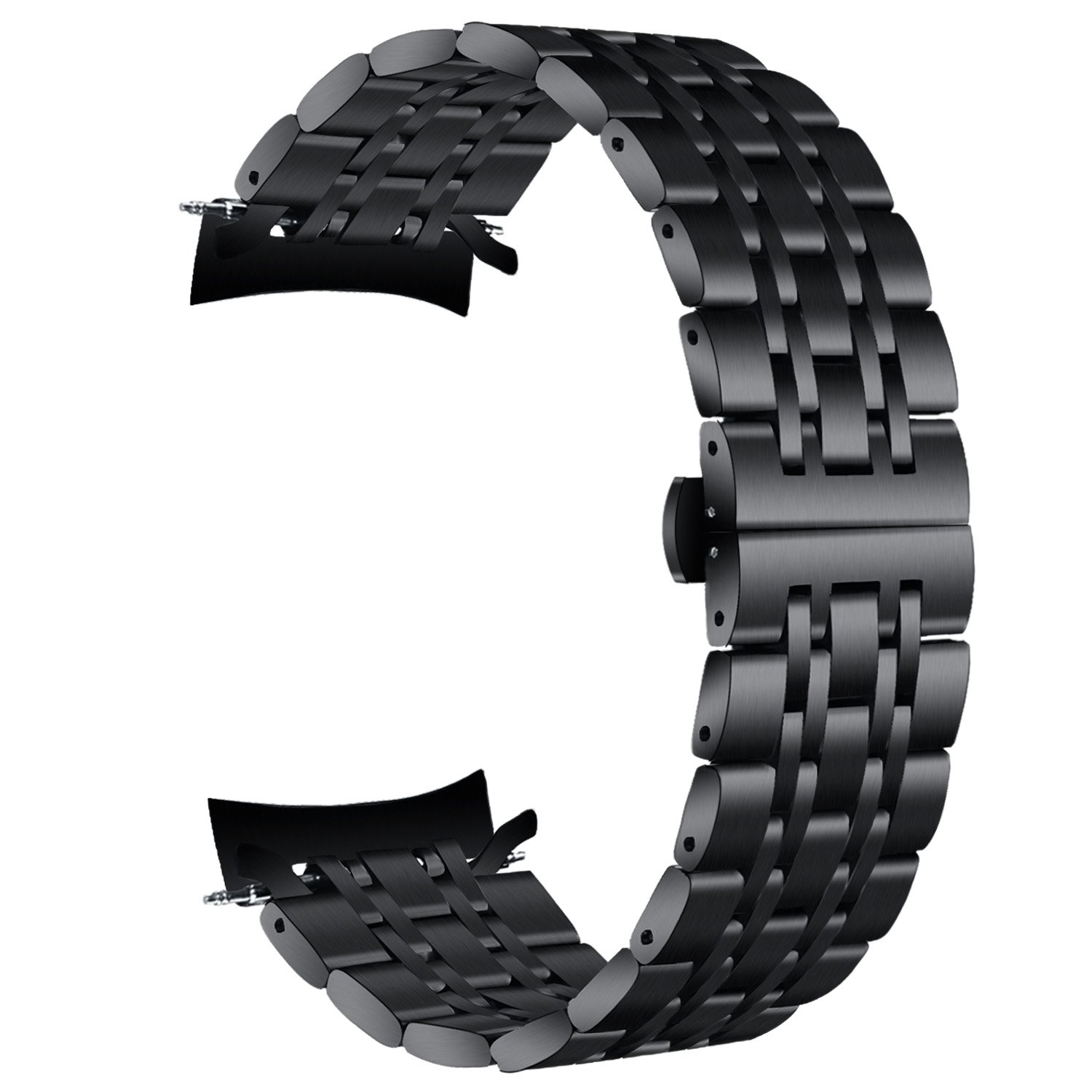 VIGOSS {ZERO GAPS} Gear S3 Frontier/Classic Bands, 22mm Black Solid Stainless Steel Metal Band With Butterfly Buckle 7 Beads Replacement Strap for Samsung Gear S3 Frontier / S3 Classic Smart Watch