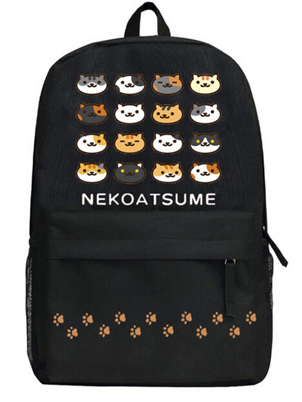 YOYOSHome ® Neko Atsumeアニメ猫裏庭コスプレDaypackバックパックスクールバッグ   B01FX8XD1G