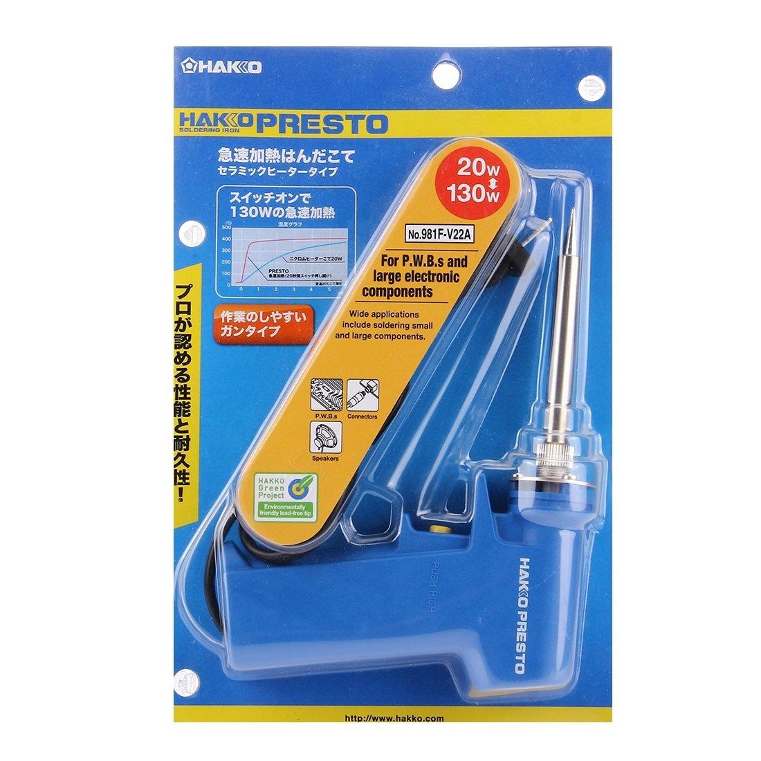 herramientas manuales, 981F-V22A AC 220V 20W / 130W Ajustable de mano de hierro de soldadura eléctrico, enchufe de EE. UU.: Amazon.es: Bricolaje y ...
