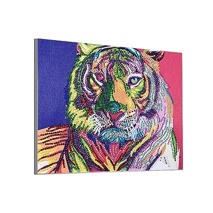 Home Decor Craft 5D DIY Diamond Painting Kit Pasted DIY Diamond Painting Cross Stitch Wolf: 25x30cm TM DIY 5D Animal Diamond Painting,Jchen