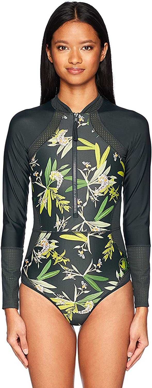 Body Glove Womens Paradise Long Sleeve Paddle One Piece Swimsuit