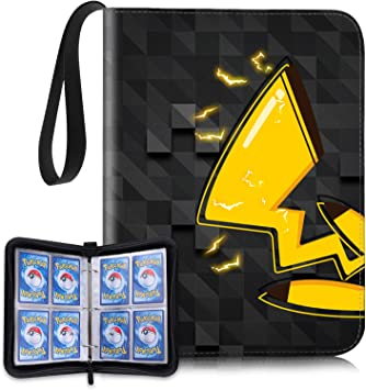 OTUCO 4 Pocket Compatible Pokemon Card Binder with Sleeves, Portable Card Holder Storage Case with 60 Removable Sheets Holds up to 480 Cards - Trading Collectors Album