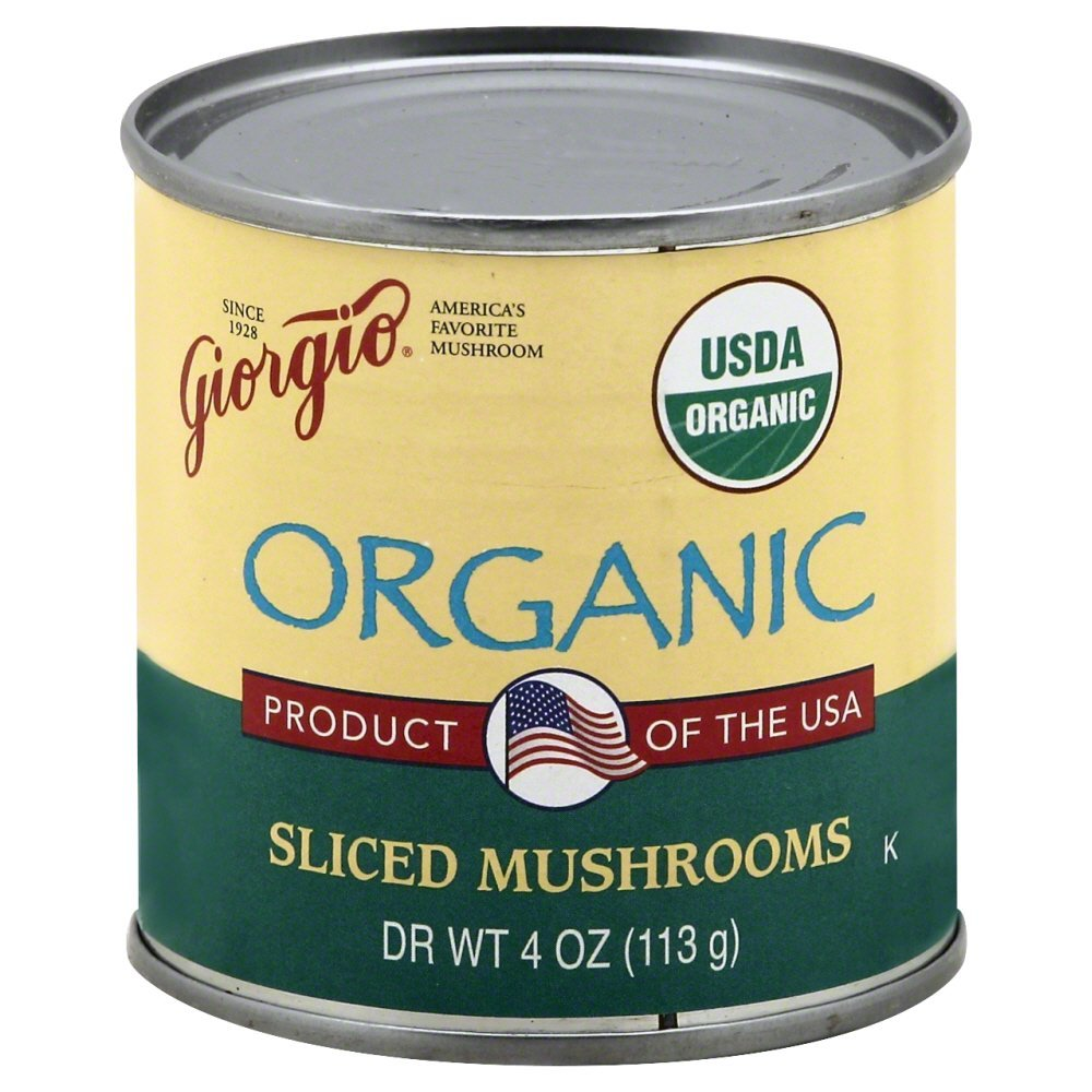 Giorgio Mushrooms, Sliced, Organic 4.0 OZ(Pack of 3)